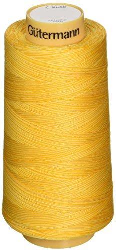 - Gutermann Natural Cotton Thread Variegated, 3281-Yard, Sunrise Sunset