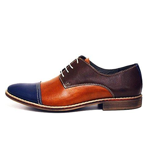 Modello Maqueda - Handgemachtes Italienisch Leder Herren Bunt Oxfords Abendschuhe - Rindsleder Weiches Leder - Schnüren