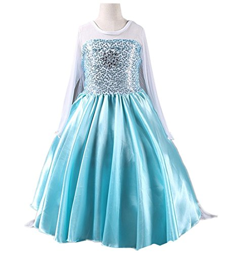 DreamHigh Little Girl's Snowflake Princess Fancy Dress Costume 2-10 Years
