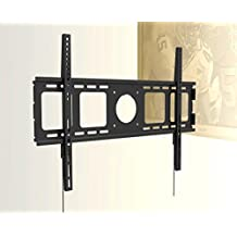 "Universal SUPER SLIM 1"" Flat Wall Mount for Samsung LG LED TV 40"", 46"", 48"" 49"" 50"" 55"", 60"", 65"", 70"", 75"" with Dual Security String and Screw Lock"