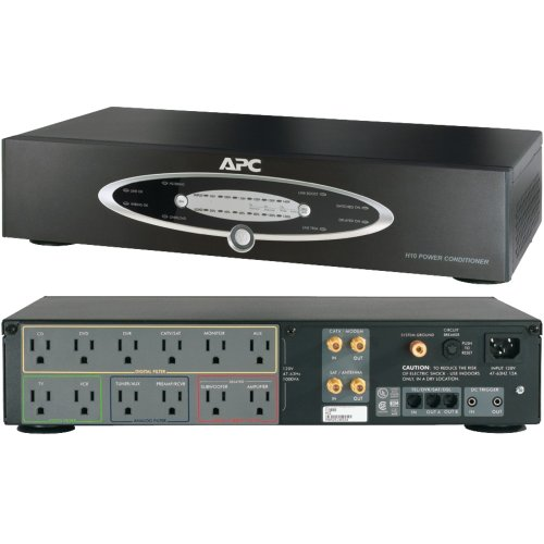 APC H10BLK 12-Outlet H-Type Rack-Mountable Power Conditioner with Coaxial Protection electronic consumer