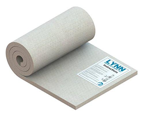 "Lynn Manufacturing Kaowool 2300F Ceramic Fiber Blanket, 48"" x 18"" x 1"" by Lynn Manufacturing"