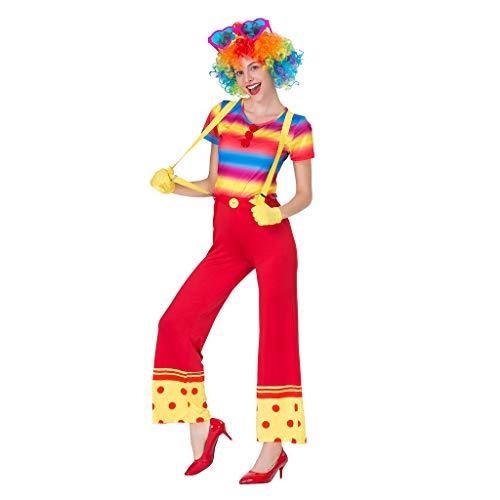 Prettyia Funny Womens Circus Clown Costume Outfit Accessories - Multicolor, L