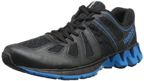 Reebok Men's Zigkick Dual Running Shoe,Black/Conrad Blue/White,8 M US