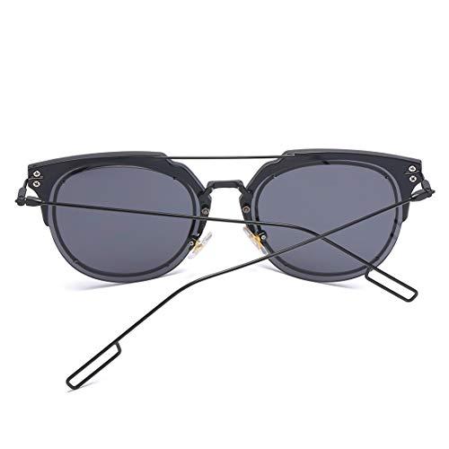 Femmes Lens Soleil Black Lunettes de Protection Frame Frame Black Sakuldes Blue Color Lens Gray 100 pour polarisées Hommes et UV400 B4RWK