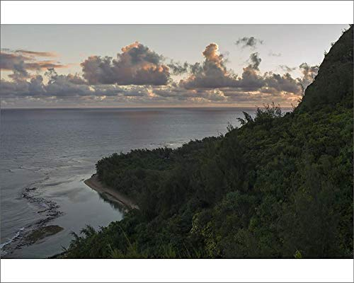 (Media Storehouse 10x8 Print of Stunning View Along Hanakapiai Portion of The Kalalau Trail, Kauai (18243823))