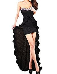 Women's Hot Slim Off Shoulder High Low Evening Dress