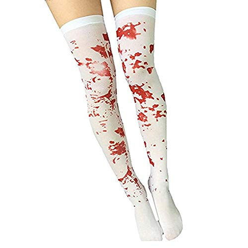 Rely2016 Women's Halloween Blood Stained White Stocking Cosplay Masquerade Costume