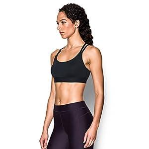 Under Armour Women's Armour Eclipse Low Impact Sports Bra, Black/Black, Medium