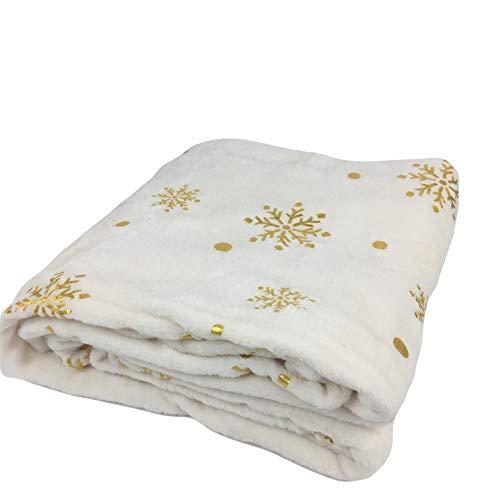 Morgan Throw - Morgan Home Christmas Velvet Plush Throw Blanket Gold Foil Snowflakes 50-inch x 60-inch