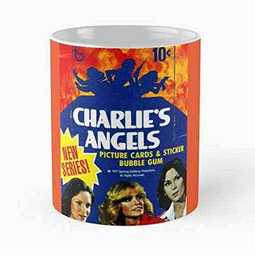Vintage Charlies Angels Topps Trading Cards - Coffee Mug Tea Cup Gift 11oz Mugs The Best Gift Holidays.
