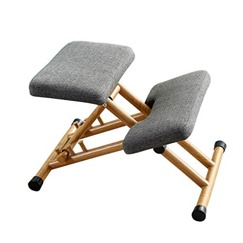 Kneeling Chair Ergonomic Stool Office Computer Posture Support Furniture Wooden Chair Ergonomic Chair ZHJING (Color : Gray)