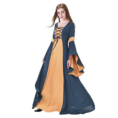 Renaissance Style Dress (COUCOU Age Renaissance Medieval Victorian Dress Vintage Princess Dress)