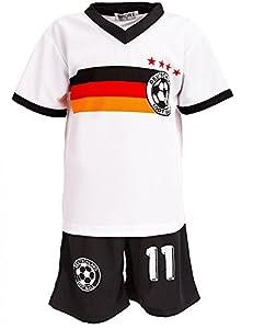 24brands - Jungen Fußball Set 2 Teilig Trainings Trikot Deutschland Italien...