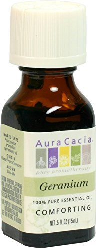 Aura Cacia - Essential Oil, Geranium, 0.5 oz