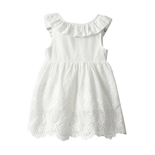 Sale Tutu - Woaills Hot Sale!2-8T Baby Girls Princess Party Clothes,Toddler Kids Big Bow Sleeveless Tutu Dresses (2/3T, White)