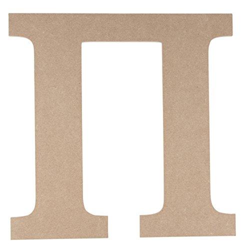 Pi Greek Letter - Wooden Greek Letter - Unfinished Wood Letter Pi, Paintable Greek Font for DIY, Home, College, Sorority, Fraternity Decoration, 11.56 x 11.56 x 0.25 inches