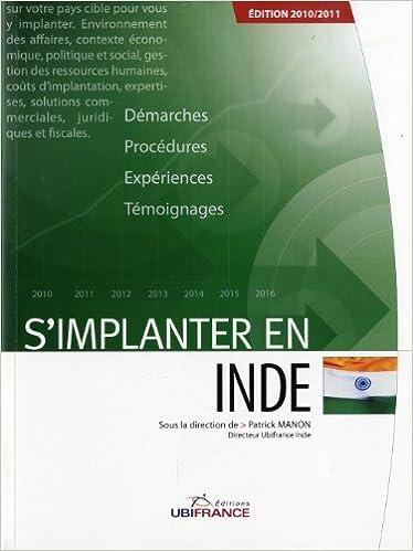 Livres audio téléchargeables gratuitement pour iphone S'implanter en Inde by Patrick Manon,Payal Sharma,Christopher Gilbert PDF