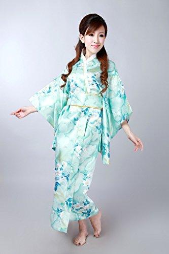 Bigood Robe de Chambre Femme Kimono Mignon Costume Japonais Mariage Soirée