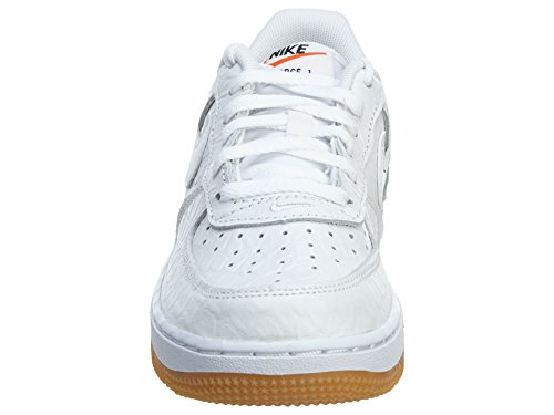 Estilo ForceLittle niños: zapatos de entrenamiento deportivo White/White-Gum Light Brown