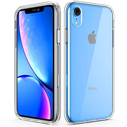 Amuoc iPhone XR Case | iPhone XR Cases | Soft TPU Bumper | Hard PC Back Cover Case Clear for iPhone XR 6.1 inch (2018)