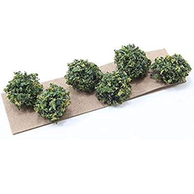 Creative Accents Dollhouse Miniature Set of 6 Small Green Bushes: Toys & Games