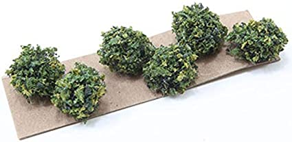 Dollhouse Miniature Outdoor Grease Wood Landscaping Bushes Set of 3 CA0369