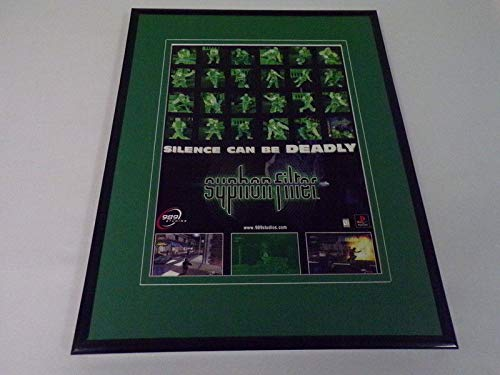 Syphon Filter 1999 Playstation 11x14 Framed ORIGINAL Advertisement
