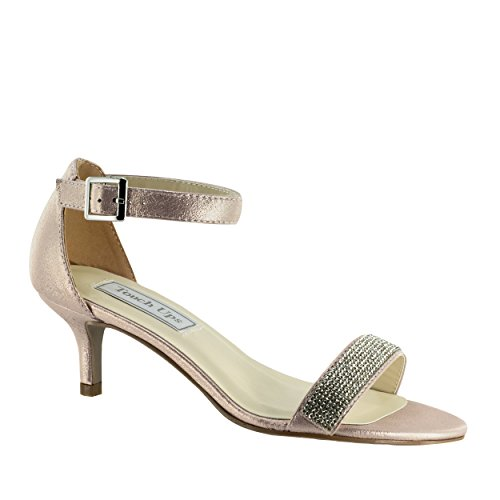 Jeweled Womens Shoes - Touch Ups Women's Isadora Heeled Sandal, Champagne, 11 M US