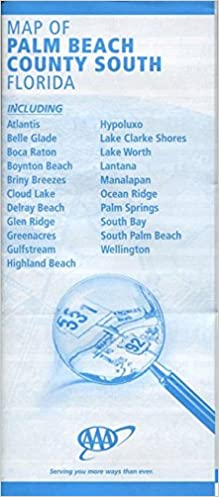 Map Of Palm Beach County South Florida Including Atlantis Belle