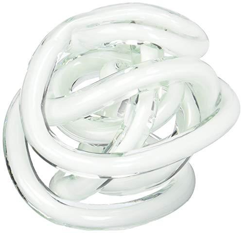 Torre & Tagus 901746B Orbit Glass Decor Ball Large-White (Renewed)