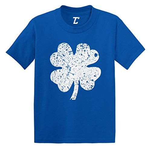 Distressed Four Leaf Clover - Luck Irish Infant/Toddler Cotton Jersey T-Shirt (Royal Blue, ()