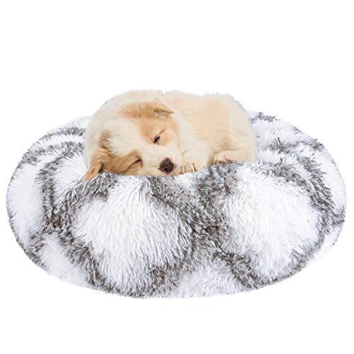 Hongyans Hundebett Rund Katzenbett Plüsch Donut Haustierbett Flauschig Hundekissen Katzen Kuschelkissen für Katzen und…