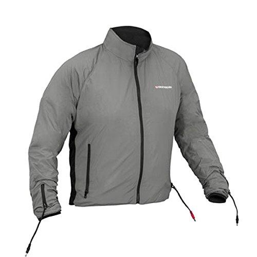 Heated Safe Liner Jacket - Firstgear Men's 90-Watt Warm and Safe Men's Grey Heated Jacket Liner 512725