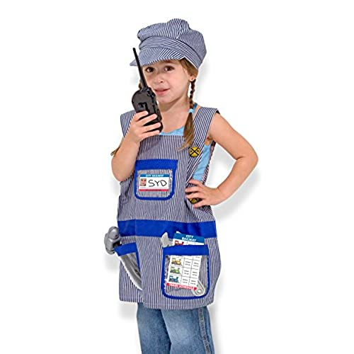 Melissa u0026 Doug Train Engineer Role Play Costume Dress-Up Set (7 pcs)  sc 1 st  Amazon.com & Train Conductor: Amazon.com