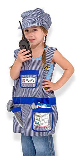 Melissa & Doug Train Engineer Role Play Costume Dress-Up Set (7 pcs)]()