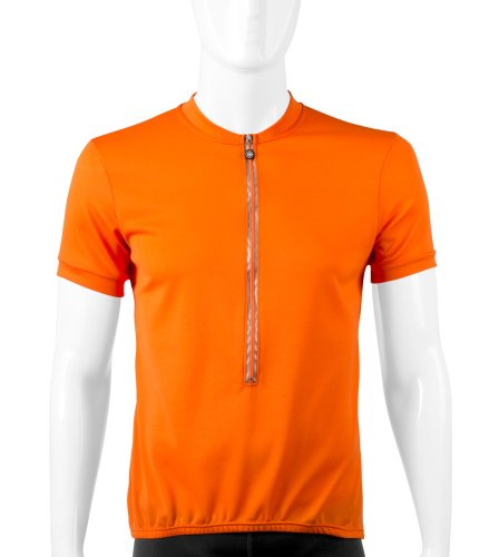 Big Man's Plus Size Cycling Jersey in Orange - Size XXXX-Large