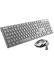 Wireless Keyboard & Mouse UK【Portable & Lightweight, Plug & Play】VicTsing Comfortable Optical Wireless Mouse and Keyboard Set, Quick Responsive, Ideal for Typing, Office & Daily, Longer Battery Life