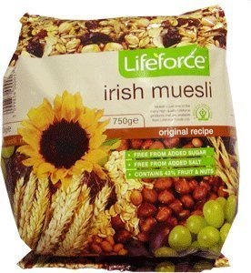 - LifeForce Irish Muesli 750g (26.4oz)