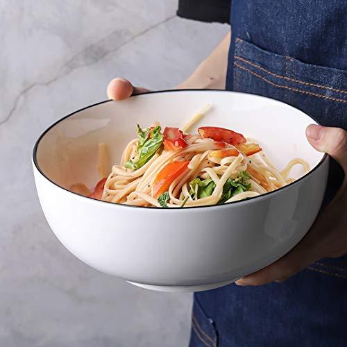YOLIFE Soup Bowls,4-Pack-52 Oz Porcelain Pasta Bowls Salad Bowls Mixing Bowls Set (Ceramic Big Bowl)