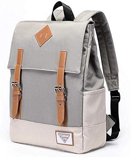 BAJIMI ハイキングバックパック、学生のバックパックは、女性男性のための旅行のラップトップバックパック耐久性のあるラップトップバックパック・カレッジスクールコンピュータバッグは、14インチのラップトップ、灰色に適合します