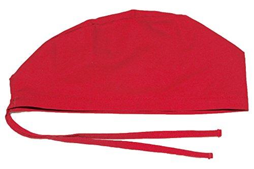 Hurricane Caps Scrub Cap, Red Solid (Red Hurricane)