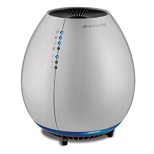Bionaire Egg Air Purifier, 3 Speed, Silver