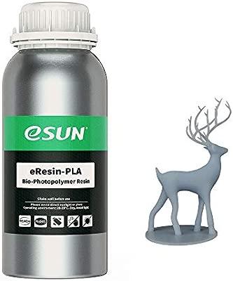 eSUN 3D Printer bio Resin for LCD 3D Printers, 500g eResin-PLA Gray