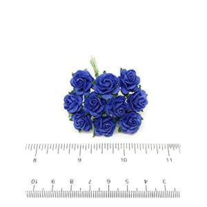 "1/2"" Royal Blue Mulberry Paper Flowers, Paper Roses, Blue Flowers, Floral Crown Flowers, DIY Wedding, Wedding Table Flowers, Navy Blue Wedding, Artificial Flowers, 50 Pieces 3"
