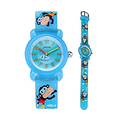 Eleoption Waterproof Kids Watch for Girls Boys Time Machine Analog Watch Toddlers Watch 3D Cute Cartoon Silicone Wristwatch Time Teacher for Little Kids Boys Girls Birthday Gift from ELEOPTION