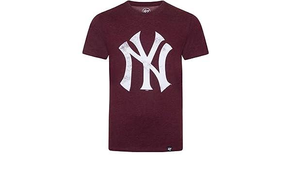 47_brand Camiseta MLB New York Yankees Granate S (Small): Amazon.es: Ropa y accesorios