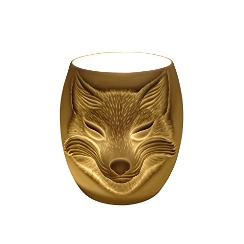 Light-Glow Fox Face Cup, Porcelain, White, 9 x 6 x 8.7 cm Light-Glow Fox Face Cup 5060397432308