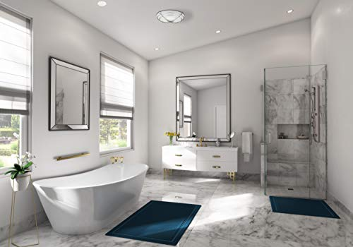 Hunter 81030 Halcyon Bathroom Exhaust Fan and Light in Contemporary Cast Chrome by Hunter Home Comfort (Image #2)