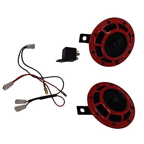 grill-mount-12v-red-super-loud-horn-set-for-mitsubishi-asx-i-miev-l200-lancer